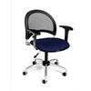 Moon Swivel Chair with Arms, Charcoal